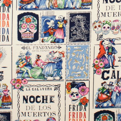 Alexander Henry Fabrics - Halloween - Day of the Dead in Multi