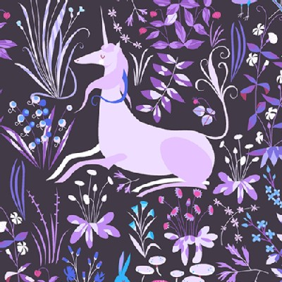 Andover - The Lovely Hunt - Tapestry in Violet