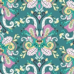 Art Gallery Fabrics - AGF Collection - Anna Elise - Poetic Saddle in Iris