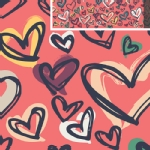 Art Gallery Fabrics - AGF Collection - Happy Home - Where the Heart Is in Red