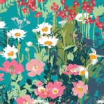 Art Gallery Fabrics - AGF Collection - Lavish - Mothers Garden in Rich