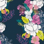 Art Gallery Fabrics - AGF Collection - Virtuosa - Flowerdrama in Notte