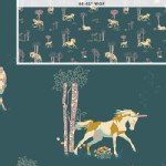 Art Gallery Fabrics - Fantasia - Unicorn Fable in Balsamtree