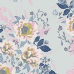 Art Gallery Fabrics - Fusion - Wild Posy in Ethereal