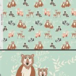 Art Gallery Fabrics - Hello Bear - Oh Hello in Meadow