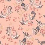 Art Gallery Fabrics - Hello Ollie - Feathered Fellow in Blush