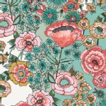 Art Gallery Fabrics - Knits - Wild Bloom - Flower Shower in Subtle