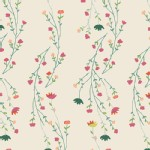 Art Gallery Fabrics - Knits - Garden Dreamer - Climbing Posies in Pale