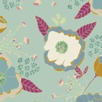 Art Gallery Fabrics - Knits - Garden Dreamer - Sprinkled Peonies in Serene