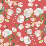 Art Gallery Fabrics - Knits - Wild Bloom - Everlasting Blooms in Berry