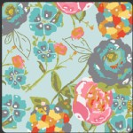 Art Gallery Fabrics - LillyBelle - Garden Rocket in Turquoise