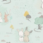 Art Gallery Fabrics - Littlest - Furry Tales in Minty