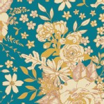 Art Gallery Fabrics - Rayon - Floral Universe in Turquoise