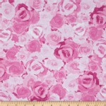 Benartex - English Rosey - Rose Garden in Light Pink