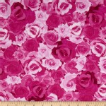 Benartex - English Rosey - Rose Garden in Fuschia