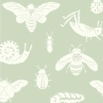 Birch Fabrics - Acorn Trail - Bugs Tonal in Mint