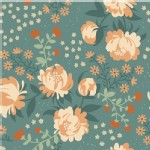 Birch Fabrics - Acorn Trail - Peonies in Blue