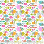 Blend Fabrics - Go Fish - Swimming with the Fishes in White