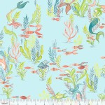 Blend Fabrics - Mermaid Days - At the Bottom of the Sea in Light Blue