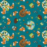 Camelot Fabrics - Frolicking Forest - Adventure in Blue