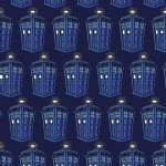 Character Prints - Dr Who - KNIT - Tardis  in Navy