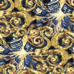 Character Prints - Dr Who - Exploding Tardis in Yellow