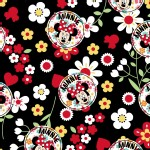 Character Prints - Mickey - Minnie Floral Toss in Black
