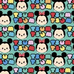 Character Prints - Mickey - KNIT - Tsum Tsums in Teal