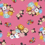Character Prints - Mickey - Tsum Tsum Group Toss in Pink