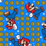 Character Prints - Nintendo - Super Mario Coins in Blue