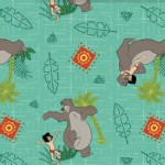 Character Prints - Other Characters - Jungle Book Toss in Green