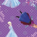 Character Prints - Princess - Frozen Sisters Forever in Purple