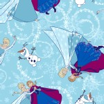 Character Prints - Princess - Frozen Ice Skating Glitter in Aqua