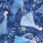 Character Prints - Princess - Elsa Character in Navy