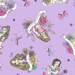 Character Prints - Princess - Disney Princess Badges Panel in Lavender