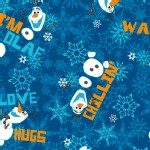 Character Prints - Princess - Frozen Olaf Chillin Toss in Navy