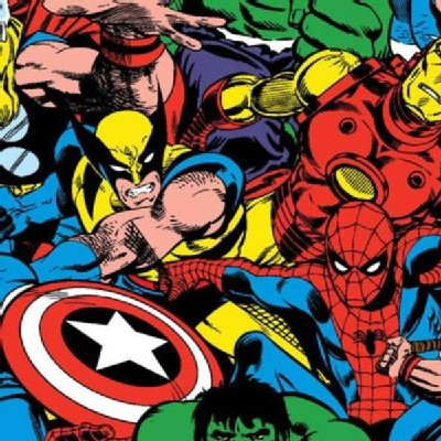 Character Prints - Super Heroes - Marvel Comic Pack in Multi