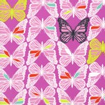 Cotton And Steel - Moonlit - Butterflies in Fushia
