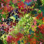 Cotton And Steel - RJR Collection - Floral Impressions - Digital Printed in Wildflower
