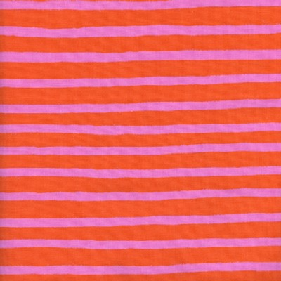 Cotton And Steel - Wonderland - Cheshire Stripe in Orange