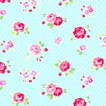 Lakehouse Drygoods - Fog City Kitty - Rose on Dot in Aqua