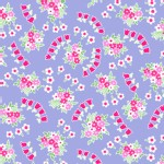Lakehouse Drygoods - Pam Kitty Garden - Posie Swirls in Purple