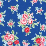 Lecien - Flower Sugar 2013 Fall - Main - Floral in Navy