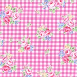 Lecien - Flower Sugar 2015 Fall - Floral Checkers in Pink