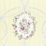 Lecien - Rococo Sweet 2015 - Cameo Stripes in Soft Yellow