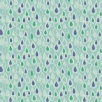 Lewis And Irene - April Showers - Raindrops in Aqua