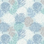 Lewis And Irene - Coastal - Sea Plants in Light Aqua