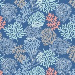 Lewis And Irene - Coastal - Sea Plants in Deep Sea Blue