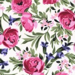 Michael Miller Fabrics - Bed of Roses - Roses in White / Pink
