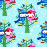 Michael Miller Fabrics - Holiday - Christmas Lovebirds in Aqua